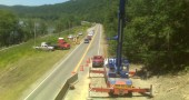 Emergency rock removal for West Virginia department of highways