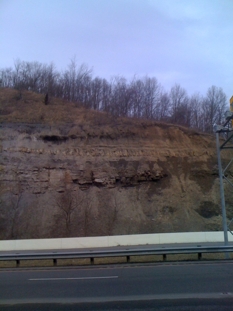 View of Slope Before Excavation from Roadway